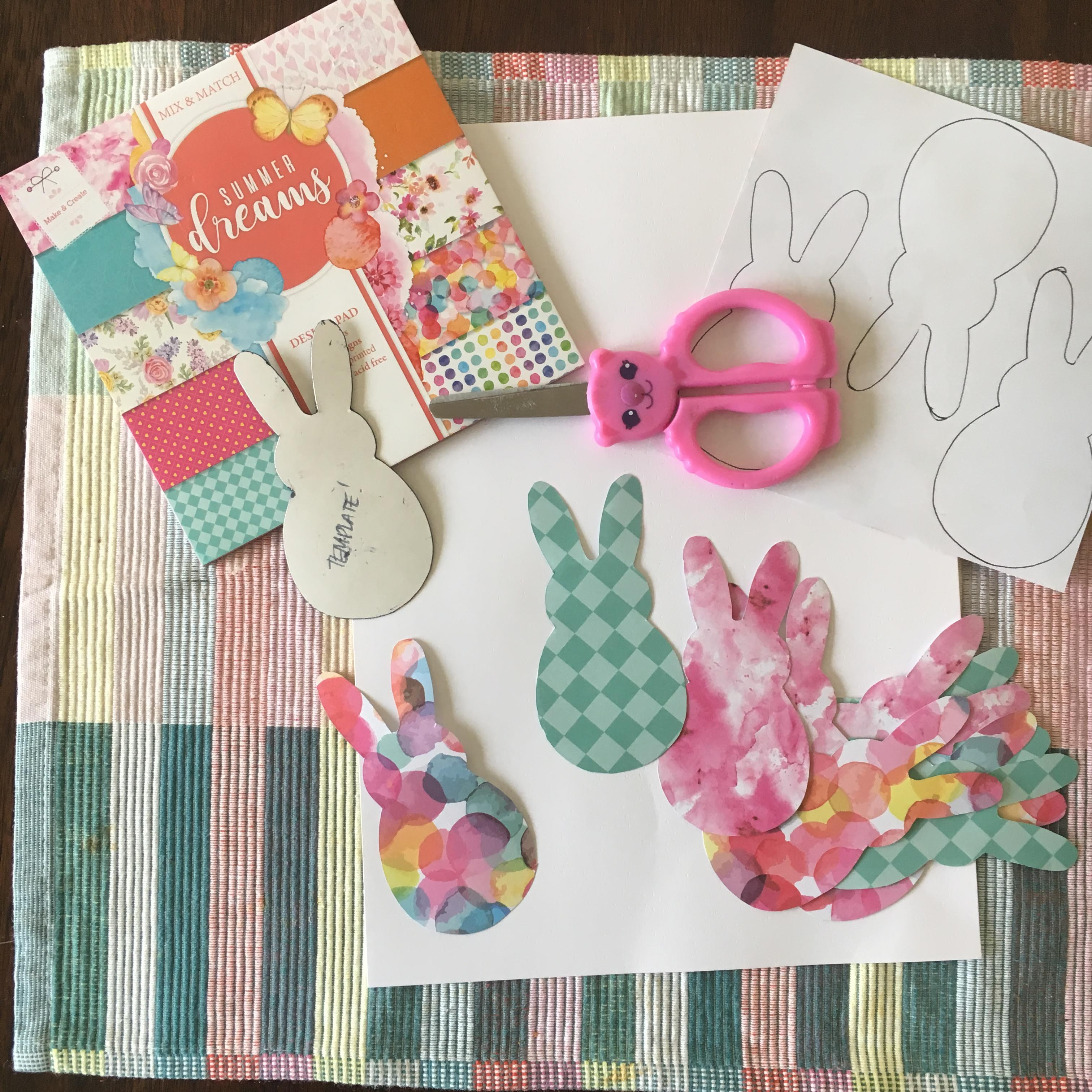how to make bunny bunting