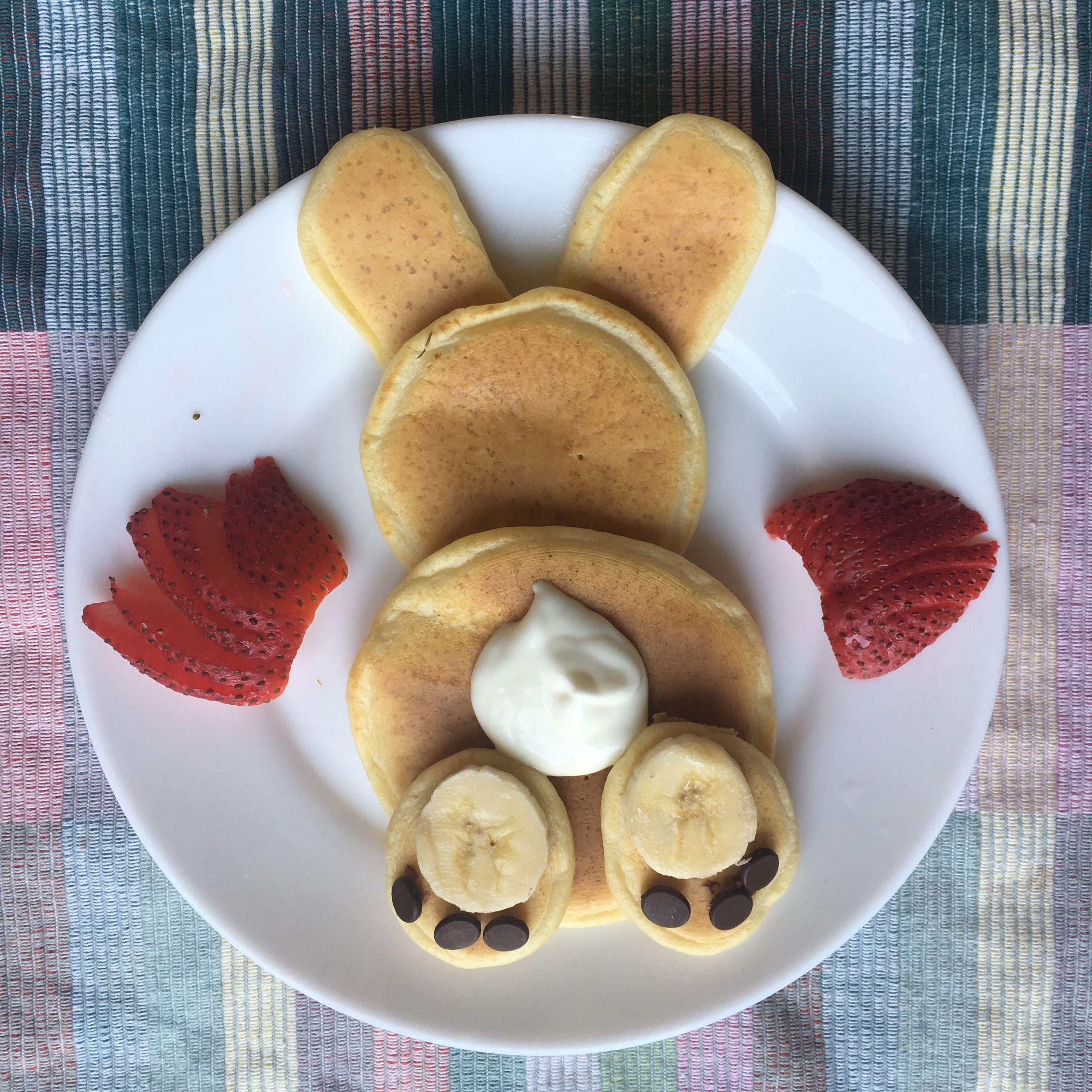 cutest easter bunny pancake